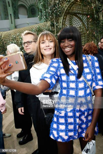 Ana Girardot and Karidja Toure attend the Chanel Haute Couture Spring Summer 2018 show as part of Paris Fashion Week on January 23 2018 in Paris...