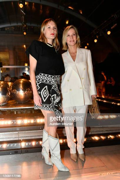 Ana Girardot and Lea Drucker attend the Isabel Marant show as part of the Paris Fashion Week Womenswear Fall/Winter 2020/2021 on February 27 2020 in...