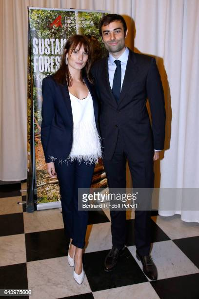 Ana Girardot and Paul GuyotSionnest attend the celebration of the 10th Anniversary of the 'Fondation Prince Albert II De Monaco' at Salle Gaveau on...