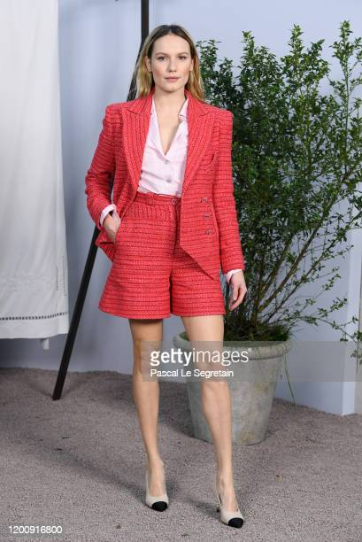 Ana Girardot attends the Chanel Haute Couture Spring/Summer 2020 show as part of Paris Fashion Week at Grand Palais on January 21 2020 in Paris France