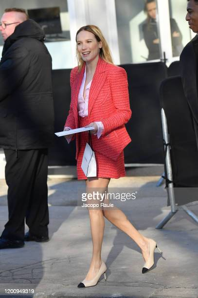 Ana Girardot attends the Chanel Haute Couture Spring/Summer 2020 show as part of Paris Fashion Week on January 21 2020 in Paris France
