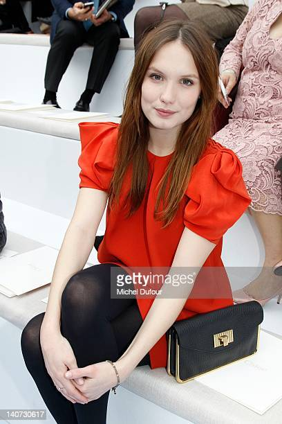 Ana Girardot attends the Chloe ReadyToWear Fall/Winter 2012 show as part of Paris Fashion Week at Espace Ephemere Tuileries on March 5 2012 in Paris...