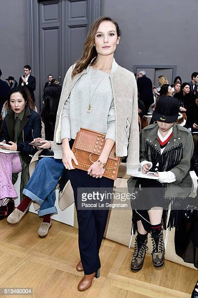 Ana Girardot attends the Chloe show as part of the Paris Fashion Week Womenswear Fall/Winter 2016/2017 on March 3 2016 in Paris France