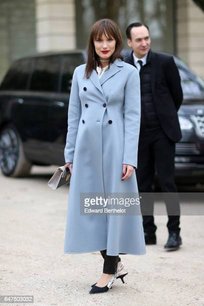 Ana Girardot attends the Christian Dior show as part of the Paris Fashion Week Womenswear Fall/Winter 2017/2018 on March 3 2017 in Paris France