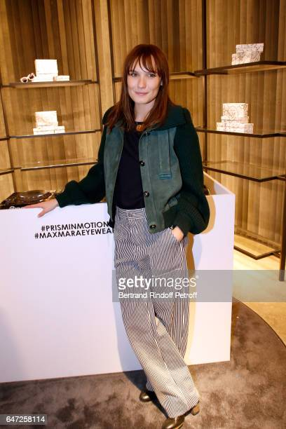 Ana Girardot attends the Max Mara 'Prism in Motion' Eventas with the presentation of the new collection Capsule of sunglasses Max Mara realized in...