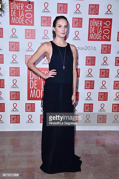 Ana Girardot attends the Sidaction Gala Dinner 2016 as part of Paris Fashion Week on January 28 2016 in Paris France