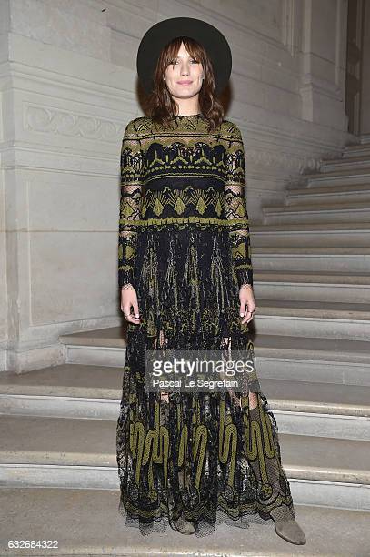 Ana Girardot attends the Valentino Haute Couture Spring Summer 2017 show as part of Paris Fashion Week on January 25 2017 in Paris France