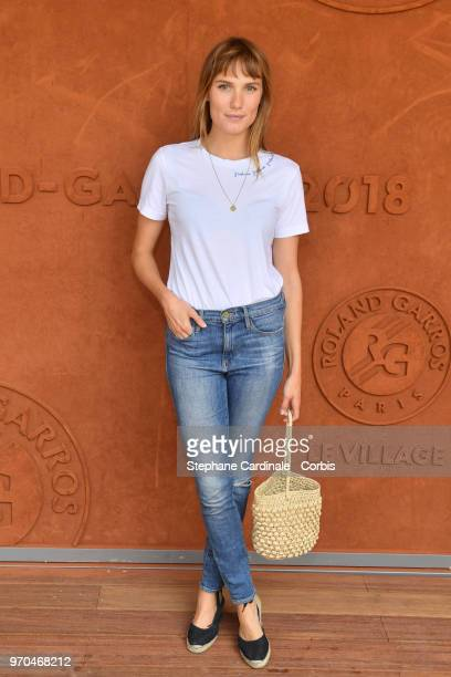 Ana Girardot attends the Women Final of the 2018 French Open Day Fourteen at Roland Garros on June 9 2018 in Paris France