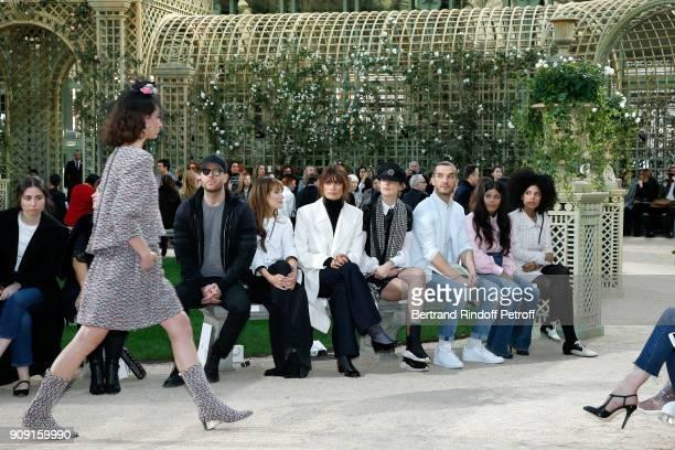 Ana Girardot, Caroline de Maigret, Stella Tennant, guest, Naomi Diaz and Lisa-Kainde Diaz attend the Chanel Haute Couture Spring Summer 2018 show as...