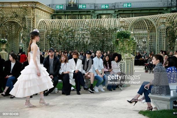 Ana Girardot Caroline de Maigret Stella Tennant guest Naomi Diaz LisaKainde Diaz and Aurelie Dupont attend the Chanel Haute Couture Spring Summer...
