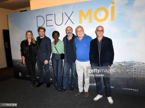 Ana Girardot Francois Civil Eye Haïdara Cedric Klapisch Francois Berleand and Bruno Levy attend The Deux Moi Premiere at MK2 Quai De Loire on...