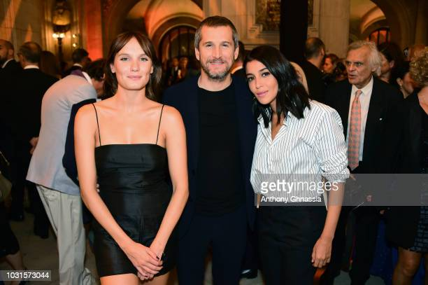 Ana Girardot Guillaume Canet and Leila Bekhti attend Longchamp 70th Anniversary Celebration at Opera Garnier on September 11 2018 in Paris France
