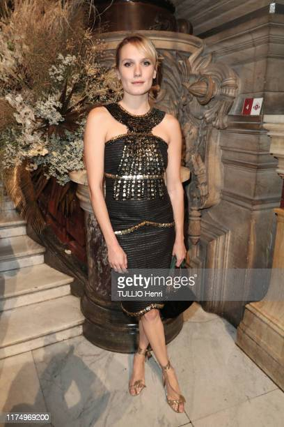 Ana Girardot is photographed for Paris Match at the evening gala for the new dance season at the Opera de Paris on September 20 2019 in Paris France