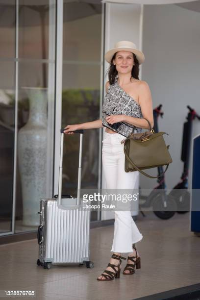 Ana Girardot is seen during the 74th annual Cannes Film Festival at on July 15, 2021 in Cannes, France.