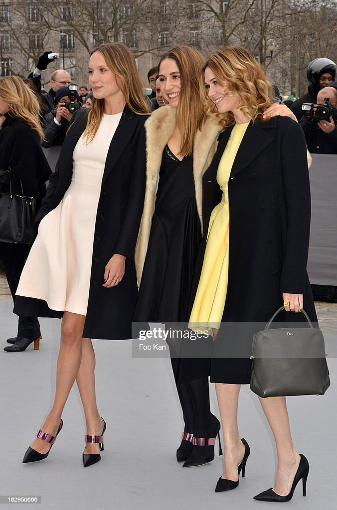 Ana Girardot, Izia Higelin and Marie-Josee Croze attend the Christian Dior - Outside Arrivals - PFW F/W 2013 at Hotel des Invalides on March 1rst, 2013 in Paris, France.