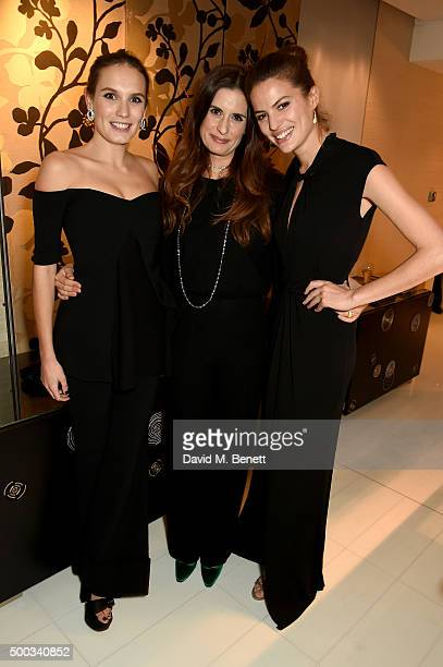 Ana Girardot Livia Firth and Cameron Russell attend the EcoAge Launch Inaugural GCC Global Leaders of Change Awards at Hotel Mandarin Oriental on...