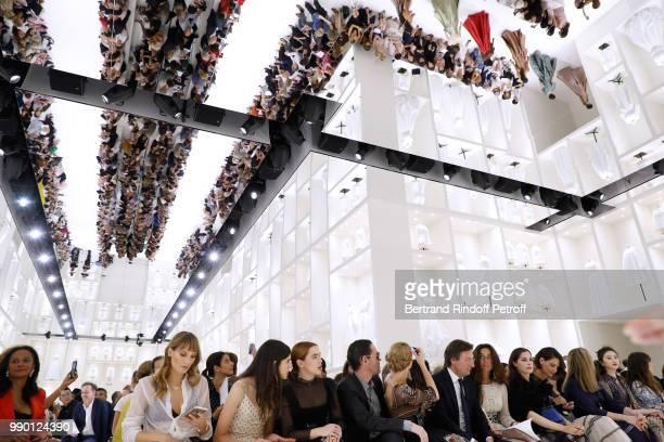 Ana Girardot, Margaret Qualley, Zoey Deutch, Michael Polish, Kate Bosworth, CEO of Dior Pietro Beccari, his wife Elisabetta, Amira Casar, Katie...