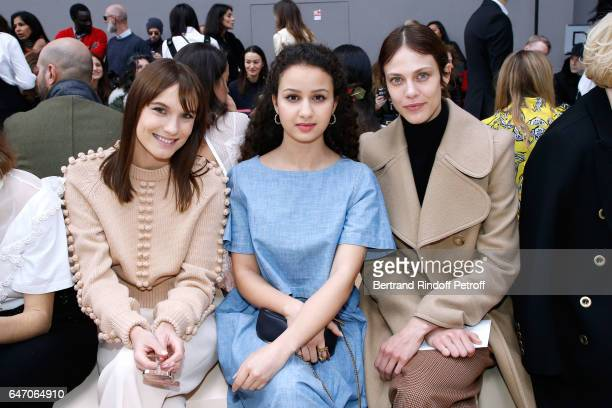 Ana Girardot Oulaya Amamra and Aymeline Valade attend the Chloe show as part of the Paris Fashion Week Womenswear Fall/Winter 2017/2018 on March 2...