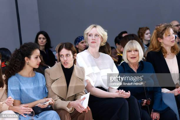 Ana Girardot Oulaya Amamra Aymeline Valade Gwendoline Christie and Marianne Faithfull attend the Chloe show as part of the Paris Fashion Week...