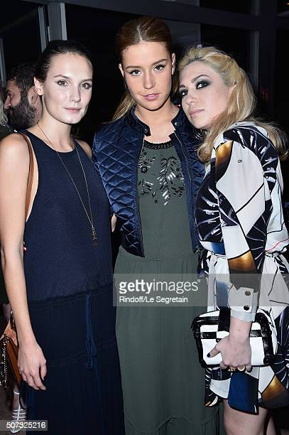 Ana GirardotAdele Exarchopoulos and Camille Seydoux attend the Sidaction Gala Dinner 2016 as part of Paris Fashion Week on January 28 2016 in Paris...