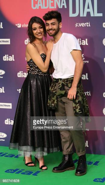 Ana Guerra and Agoney attend the 'Cadena Dial' Awards 2018 red carpet on March 15 2018 in Tenerife Spain