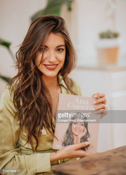 Ana Guerra attends 'Ana Guerra con una sonrisa' press conference at FNAC Callao on April 11 2019 in Madrid Spain