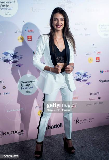 Ana Guerra attends Pablo Alboran concert in Madrid on July 31 2018 in Madrid Spain