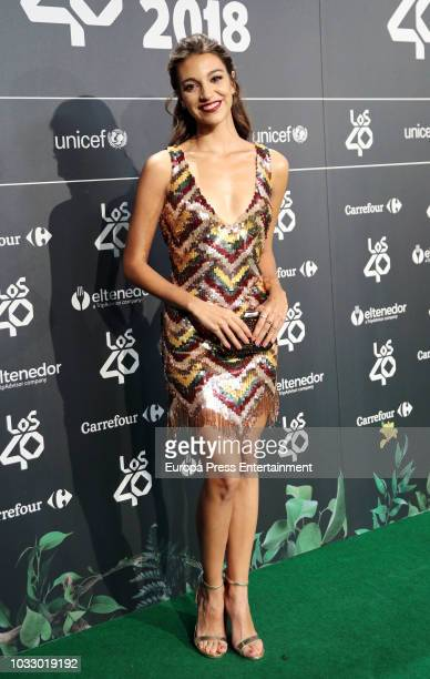 Ana Guerra attends the 40 Principales Awards nominated dinner at Florida Retiro on September 13 2018 in Madrid Spain