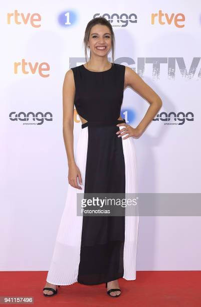 Ana Guerra attends the 'Fugitiva' Tv series premiere at Callao cinema on April 2 2018 in Madrid Spain