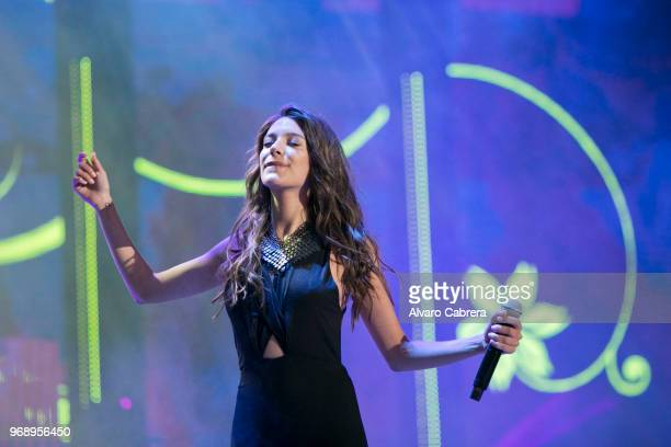 Ana Guerra contestant of OT 2017 performs during the 'Operación Triunfo' concert at Auditorio on June 1 2018 in Malaga Spain