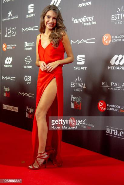 Ana Guerra poses during a photocall for 'People in Red' gala held at the Museu Nacional d'Art de Catalunya on November 19 2018 in Barcelona Spain