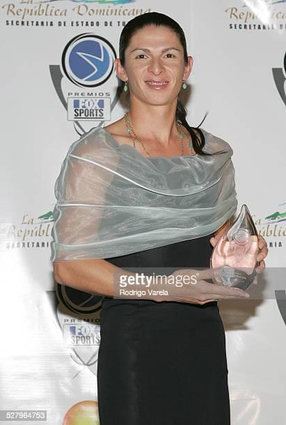 Ana Guevara during Premios Fox Sports 2004 Awards Press Room at Jackie Gleason Theater in Miami Beach Florida United States