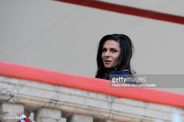 Ana Guevara holder of the CONADE waits for an appointment during the announcement of the new Ministry of Foreign Affairs working team at Casa de...