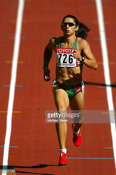 Ana Guevara of Mexico in action during the first round of the women's 400m heats at the 9th IAAF World Athletics Championship August 24 2003 in Paris