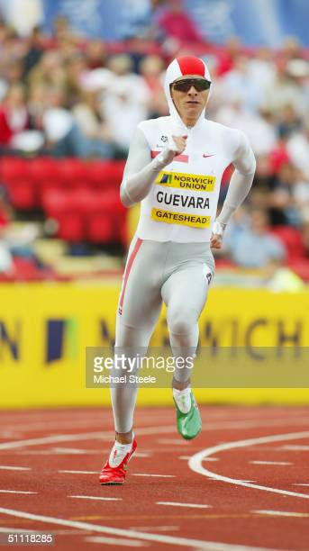 Ana Guevara of Mexico in action in the 400 metres at the Norwich Union British Grand Prix at the International Stadium on June 27 in Gateshead England