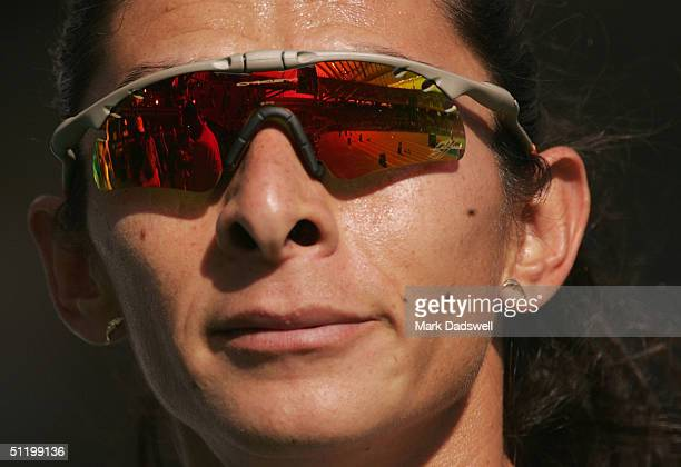 Ana Guevara of Mexico is seen during the women's 400 metre event on August 21 2004 during the Athens 2004 Summer Olympic Games at the Olympic Stadium...