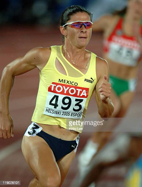 Ana Guevara of Mexico placed second in women's 400meter semifinal in 5033 in the IAAF World Championships in Athletics at Olympic Stadium in Helsinki...