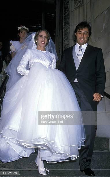 Ana Herrera and Luis ParoudCarpena during Ana Luisa Herrera and Felipe Paroud Carpena Wedding at St Vincent Ferrer Church in New York City New York...
