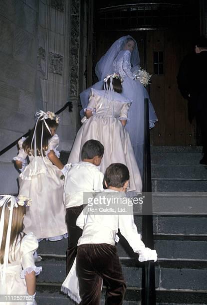 Ana Herrera during Ana Luisa Herrera and Felipe Paroud Carpena Wedding at St Vincent Ferrer Church in New York City New York United States