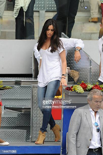 Ana Isabel Medinabeitia attends the Mutua Madrilena Madrid Open on May 12 2012 in Madrid Spain