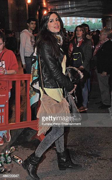 Ana Isabel Medinabeitia attends the UEFA Champions League semi final match between Club Atletico de Madrid and Chelsea FC on April 22 2014 in Madrid...