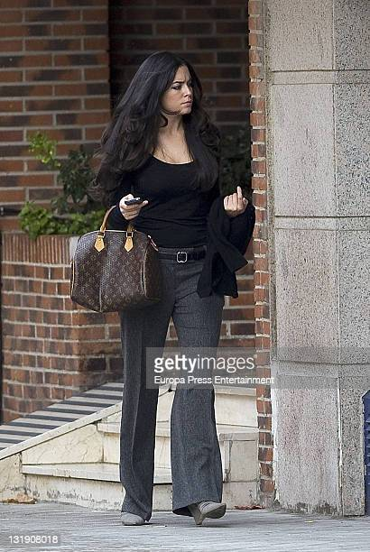 Ana Isabel Medinabeitia is seen on November 8 2011 in Madrid Spain