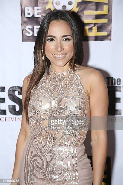 Ana Isabelle attends 'The Eyes' New York premiere at Regal EWalk Stadium 13 on June 20 2016 in New York City