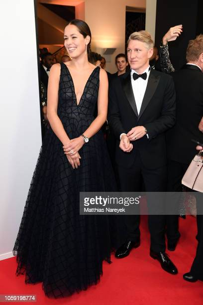Ana Ivanovic and Bastian Schweinsteiger arrive for the 20th GQ Men of the Year Award at Komische Oper on November 8 2018 in Berlin Germany