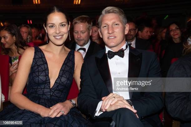 Ana Ivanovic and Bastian Schweinsteiger attend the GQ Men of the Year Award show at Komische Oper on November 08 2018 in Berlin Germany