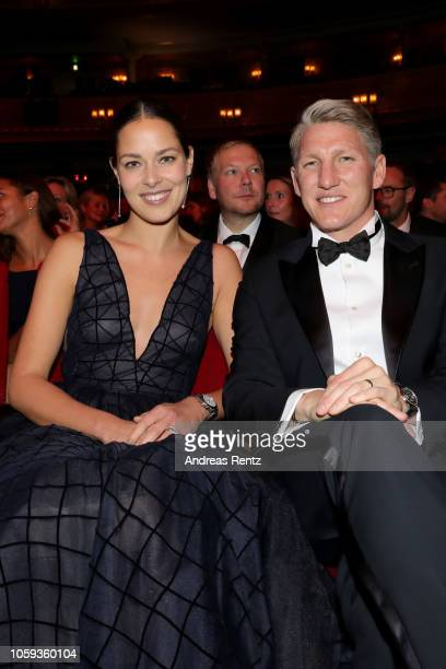 Ana Ivanovic and Bastian Schweinsteiger during the GQ Men of the Year Award show at Komische Oper on November 8 2018 in Berlin Germany