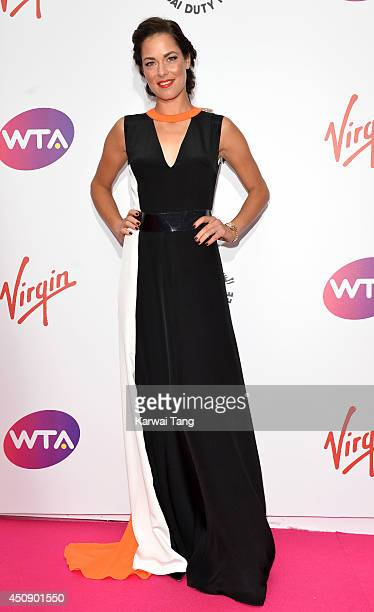 Ana Ivanovic attends the WTA PreWimbledon party at Kensington Roof Gardens on June 19 2014 in London England