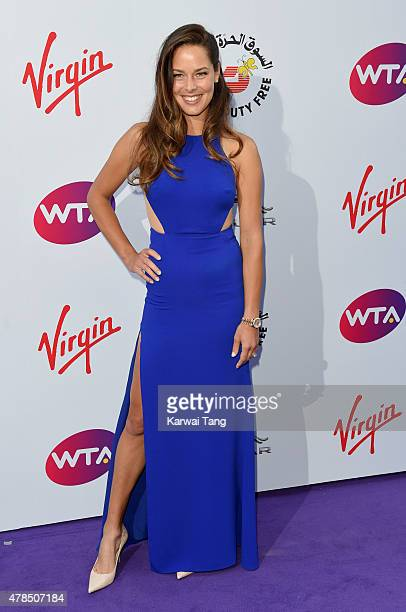 Ana Ivanovic attends the WTA PreWimbledon Party at Kensington Roof Gardens on June 25 2015 in London England