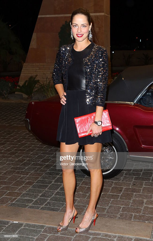 Ana Ivanovic of Serbia arrives for a player's party at the IW Club on March 7, 2013 in Indian Wells, California.