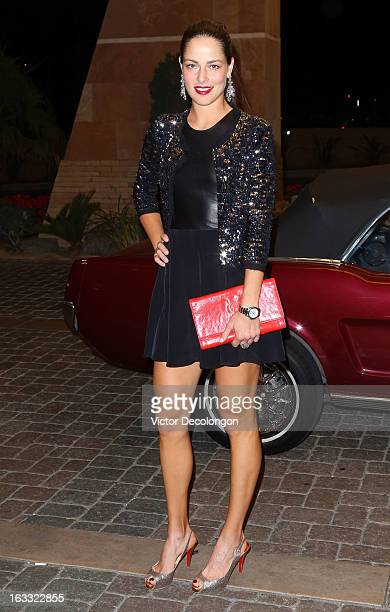 Ana Ivanovic of Serbia arrives for a player's party at the IW Club on March 7 2013 in Indian Wells California